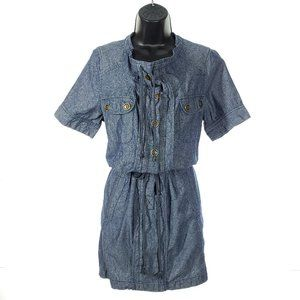 OASIS Denim Shirt Dress Loose Fit Drawstring Waist